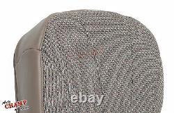 01 02 Chevy Silverado 1500 Work Truck -Driver Side Bottom Cloth Seat Cover Tan
