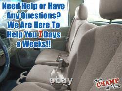 01 02 Chevy Silverado 3500 Work Truck -Driver Side Bottom Cloth Seat Cover Tan