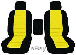 01-20 Ford F-150/F-250/F-350 Two-Tone Truck Bucket Seat Covers w Center Armrest