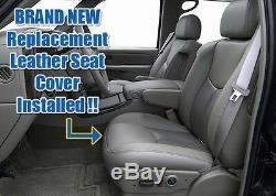 03 04 05 06 GMC Sierra Denali Truck -Driver Side Bottom Leather Seat Cover Gray