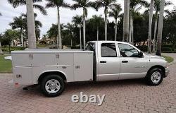 03-05 Dodge Ram Truck Service Utility Bed-Driver Bottom Vinyl Seat Cover DK GRAY