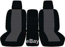 04-10 Ford F-150/F-250/F-350 40-20-40 2-Tone Truck Seat Covers +Console F-Series