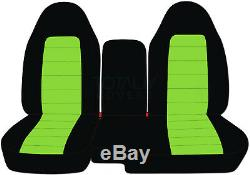 04-12 Chevy Colorado/GMC Canyon 60/40 2-Tone Truck Seat Covers w Armrest/Console