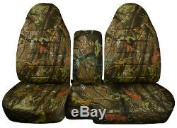 04-12 Chevy Colorado/GMC Canyon 60/40 Camo Truck Seat Covers w Armrest/Console