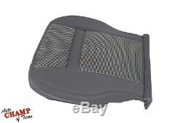 06-08 Dodge Ram 1500 SLT Driver Side Bottom Replacement Cloth Seat Cover Gray