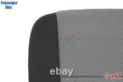 07 08 09 GMC Sierra Work Truck-Passenger Side Bottom Cloth Seat Cover Black/Gray