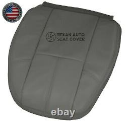 07, 08 Chevy Silverado 1500HD Work Truck Driver Lean Back Vinyl Seat Cover Gray