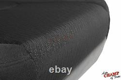 07-14 GMC Sierra Base ST WithT HD Work Truck -Driver Bottom Cloth Seat Cover Black