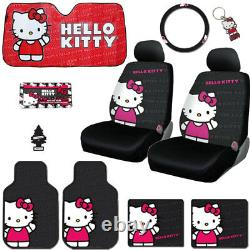 10pc Hello Kitty Core Car Seat Truck Covers Mats Accessories Set For Ford
