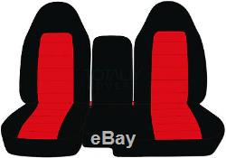 1991-2012 Ford Ranger 60/40 2-Tone Truck Seat Covers Console/Armrest Split Bench
