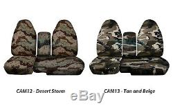 1991-2012 Ford Ranger 60/40 Camo Truck Seat Covers w Console/Armrest Split Bench