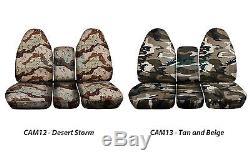 1994-2002 Dodge Ram 40/20/40 Camo Truck Seat Covers +Console/Armrest Split Bench