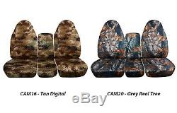 1994-2008 Dodge Ram 40/20/40 Camo Truck Seat Covers +Console/Armrest Split Bench