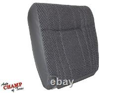 1995 1996 Dodge Ram Work Truck Base ST -Driver Side Bottom Cloth Seat Cover Gray