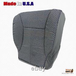 1998 2002 Dodge Ram Work Truck Driver & Passenger Bottom Cloth Seat Cover Gray
