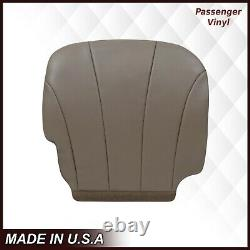 1999 2000 2001 2002 GMC Sierra Work Truck Driver & Passenger Seat Cover Tan 52V