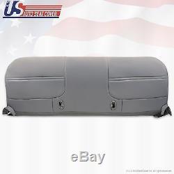 1999 2000 2001 Ford F450 Work Truck Bench Bottom Vinyl Seat Cover Graphite Gray