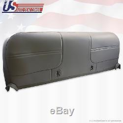 1999 2000 2001 Ford F550 Work Truck Bench Bottom Vinyl Seat Cover Graphite Gray
