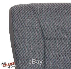 1999 2000 Dodge Ram 3500 Work Truck WithT-Driver Side Bottom Cloth Seat Cover Gray