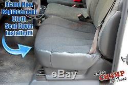 1999 Chevy Silverado 1500 Work Truck-Driver Side Bottom Cloth Seat Cover Dk Gray
