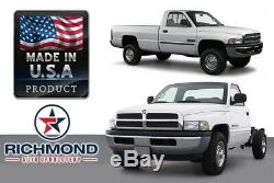 1999 Dodge Ram 1500 2500 3500 Work Truck -Driver Bottom Vinyl Seat Cover Gray