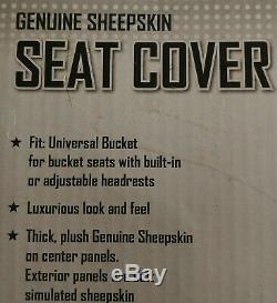 2 Genuine Sheepskin Universal Charcoal Gray Bucket Seat Cover AUTO Car Truck suv