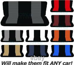 2-Tone Bench Seat Covers Car/Truck/Van/SUV 60/40 40/20/40 50/50 +Console/Armrest