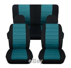 2-Tone Car Seat Covers for ANY Car/Truck/Van/SUV/Jeep Full Set Front Rear 22 CC