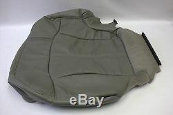2000 2002 Chevy SUV/Truck Driver Bottom Leather Seat Cover & Foam Cushion Gray