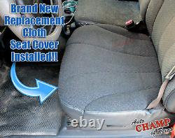 2001 2002 GMC Sierra 3500 Work Truck-Driver Side Bottom Cloth Seat Cover Dk Gray
