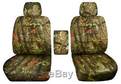 2001-2020 Ford F-150/F-250/F-350 Camo Truck Bucket Seat Covers w Center Armrest