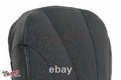 2001 Chevy Silverado 3500 Work Truck-Driver Side Bottom Cloth Seat Cover Dk Gray