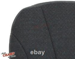 2001 GMC Sierra 2500 HD Work Truck-Driver Side Bottom Cloth Seat Cover Dark Gray