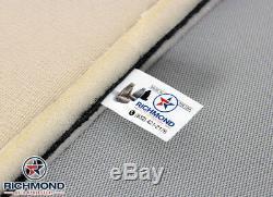 2001 GMC Sierra C3 Denali Truck Driver Bottom Leather Seat Cover 2-Tone Gray/Tan