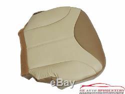 2001 GMC Sierra C3 Denali Truck Driver Bottom Leather Seat Cover 2 Tone Tan