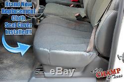 2002 Chevy Silverado 2500 HD Work Truck-Driver Bottom Cloth Seat Cover Dark Gray