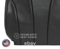 2002 Chevy Silverado 2500HD Work Truck Driver Lean Back Seat Cover Dark Gray