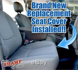 2002 Dodge Ram 1500 Base ST Work Truck -Driver Side Bottom Cloth Seat Cover Gray