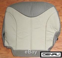 2002 GMC Sierra Denali Truck AWD c3 Driver Side Bottom Leather Seat Cover 2-Tone