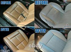 2002 GMC Sierra Denali Truck C3-Driver Side Bottom Leather Seat Cover 2-Tone Tan