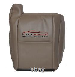 2002 GMC Sierra Truck 4X4 C3 Driver Lean Back Leather Seat Cover 2-Tone Tan