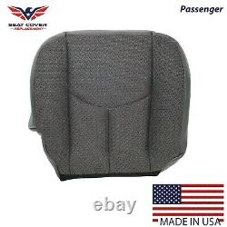 2003 07 Chevy Silverado Work truck Passenger Bottom Cloth Seat Cover Dark Gray