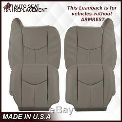 2003 2004 2005 2006 2007 GMC Sierra Work Truck Leather Seat Cover Light Gray 922
