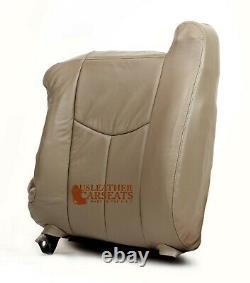 2003 2004 2005 2006 Chevy Silverado Truck Driver LeanBack Leather Seat Cover Tan