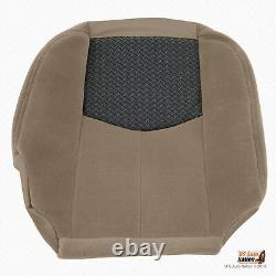 2003 2004 Chevy Avalanche Truck FRONT Passenger Bottom Cloth Seat Cover In TAN