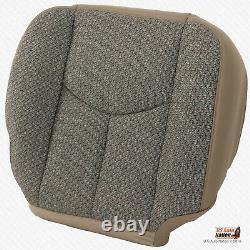 2003 2004 Chevy Silverado 3500 WORK TRUCK Driver Bottom TAN CLOTH Seat Cover