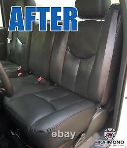 2003 2004 GMC Sierra 3500 Work Truck-Driver Side Bottom VINYL Seat Cover Dk Gray