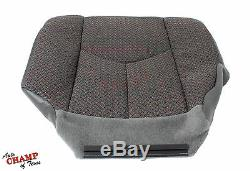 2003-2007 Chevy Silverado Work Truck-Driver Side Bottom Cloth Seat Cover Dk Gray