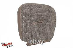 2003-2007 Chevy Silverado Work Truck WithT-Driver Side Bottom Cloth Seat Cover Tan