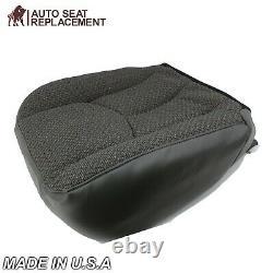 2003 2007 Chevy Silverado Work truck Driver Bottom Cloth Seat Cover Dark Gray